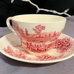 Vintage 'Castle on The Lake' Cup and Saucer